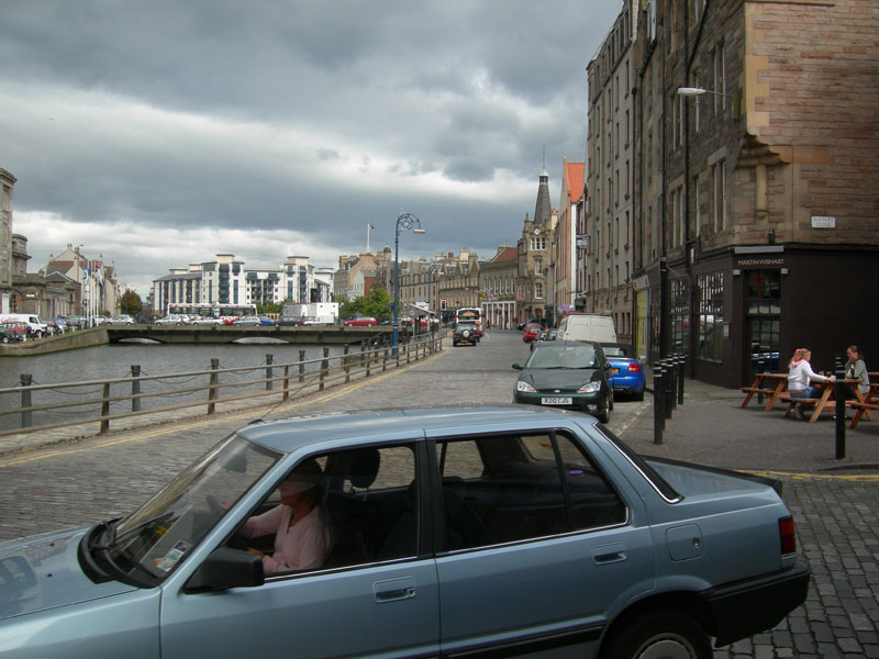 A view of Leith in Edinburgh