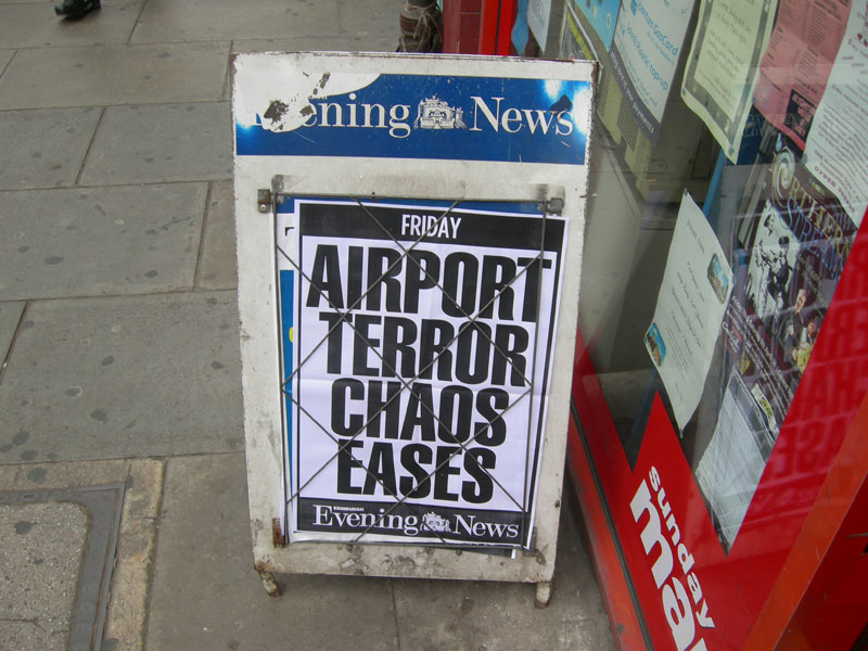 Airport Terror Chaos Eases