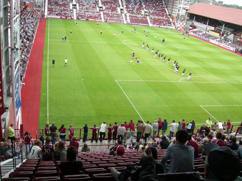 A view from Row 28, seat 27 at Tynecastle stadium
