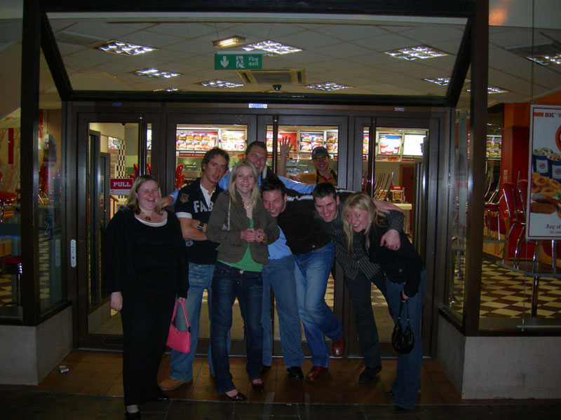 Posing with my new best friends outside of Burger King at 4 AM on Princes Street in Edinburgh