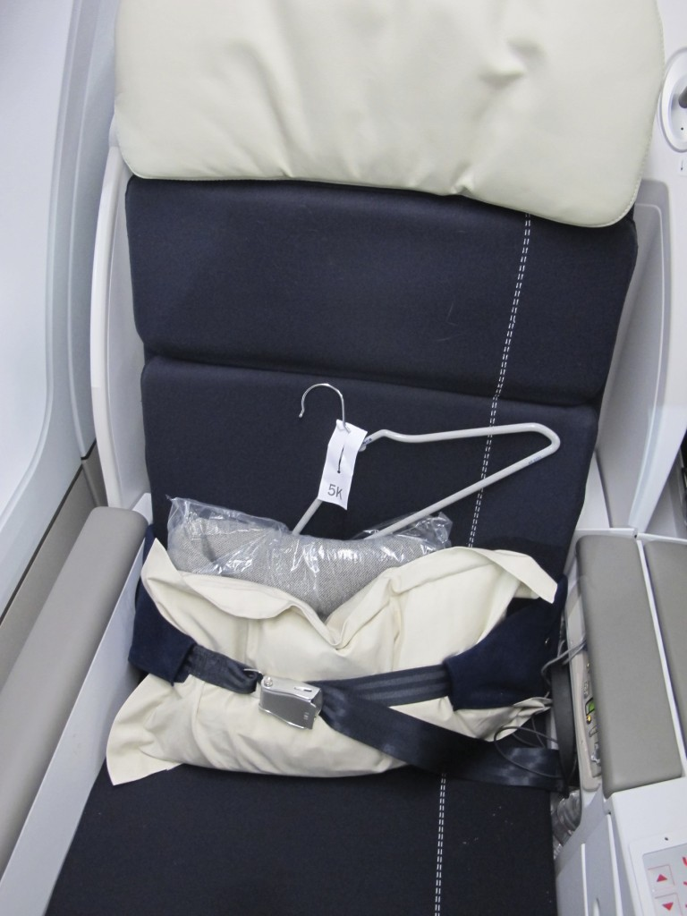 Individual Seat in Air France Business Class