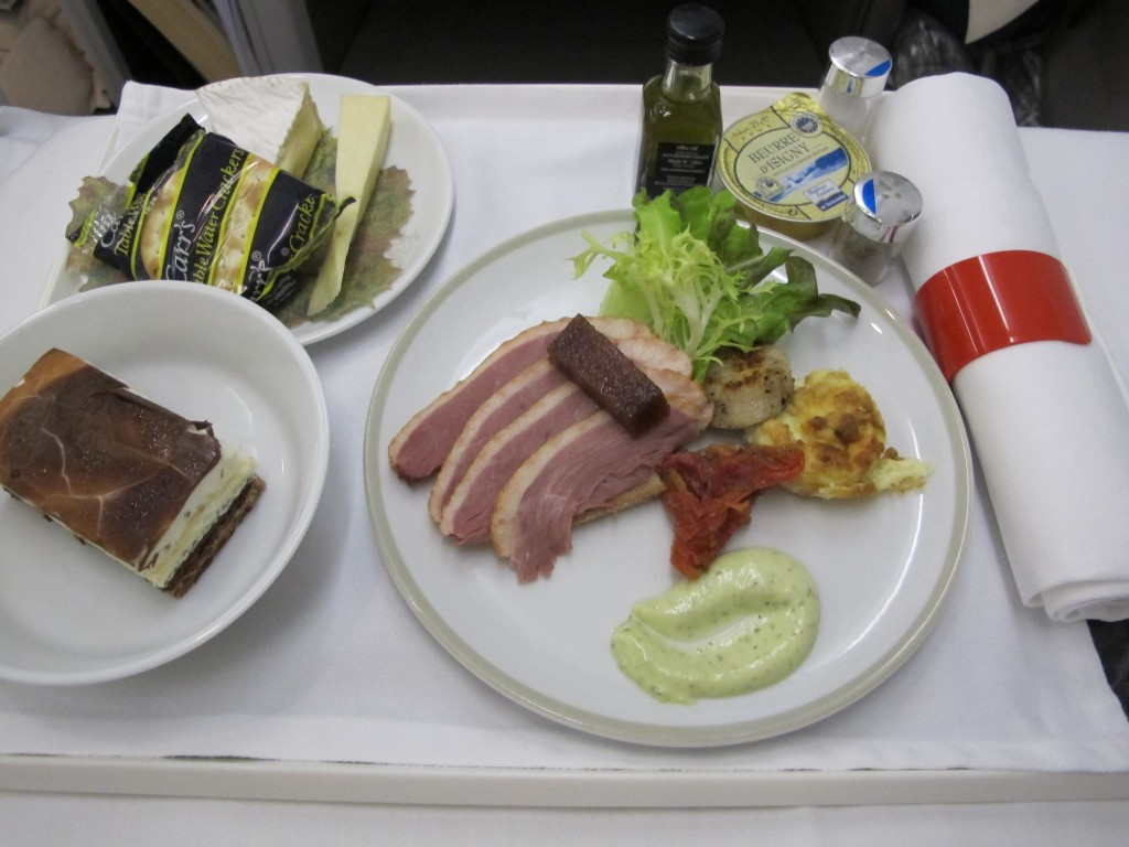 Meal Tray in Air France Business Class