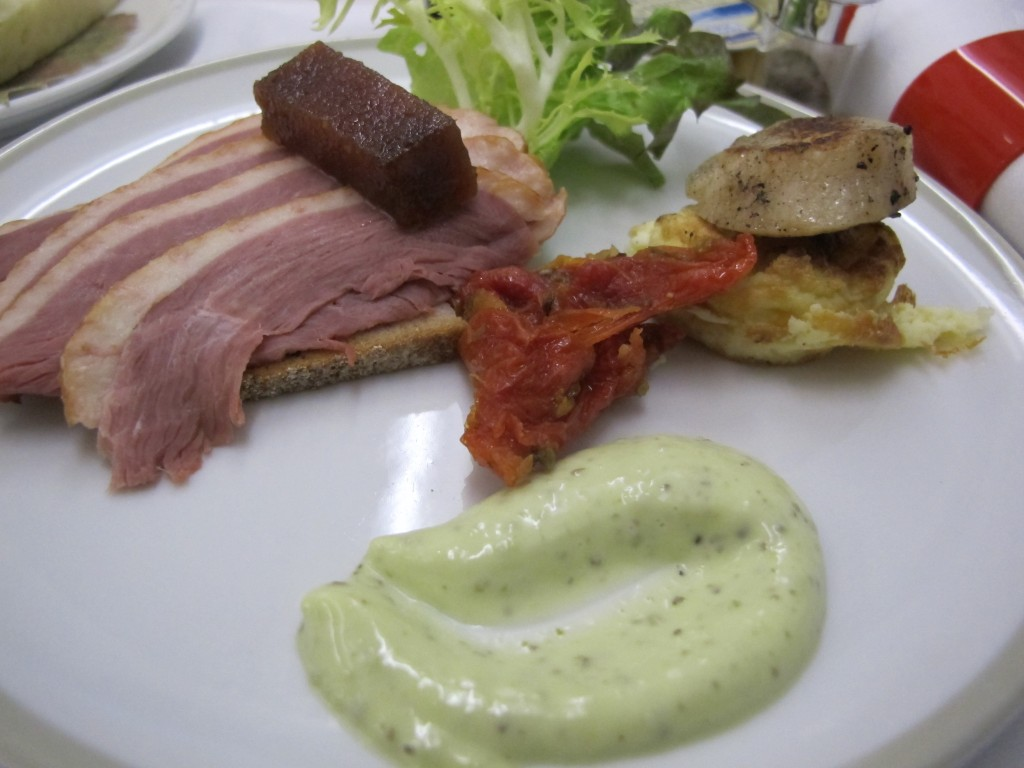 Smoked Duck Breast from Air France Business Class