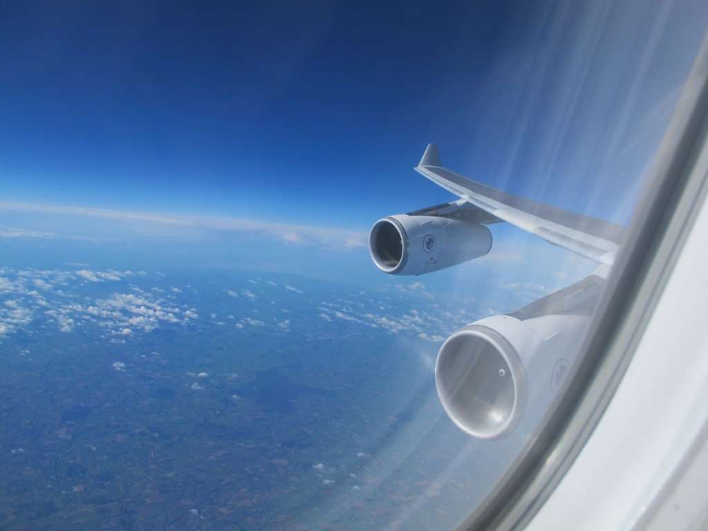 View from the Wing - Air France Business Class