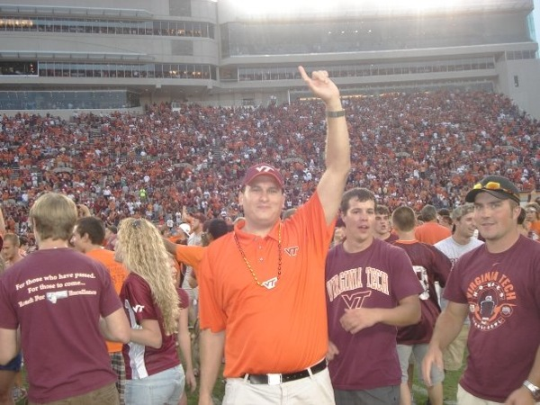 Storming the Field at Virginia Tech
