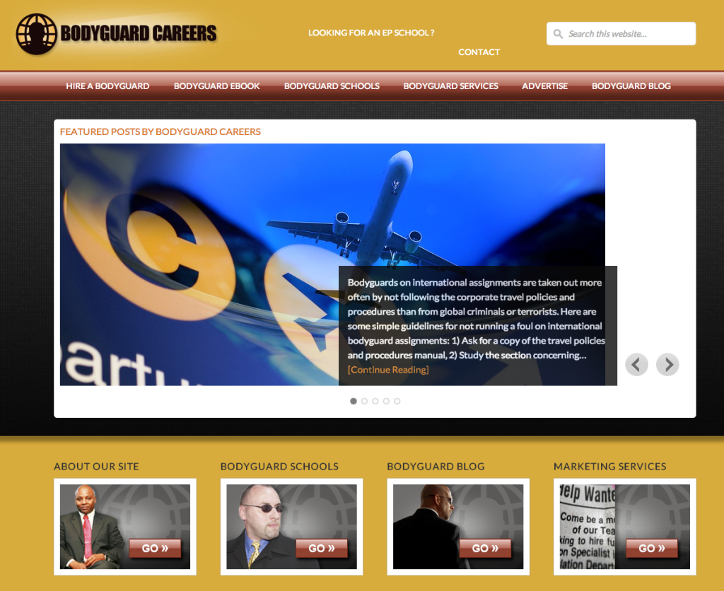 Bodyguard Careers Website